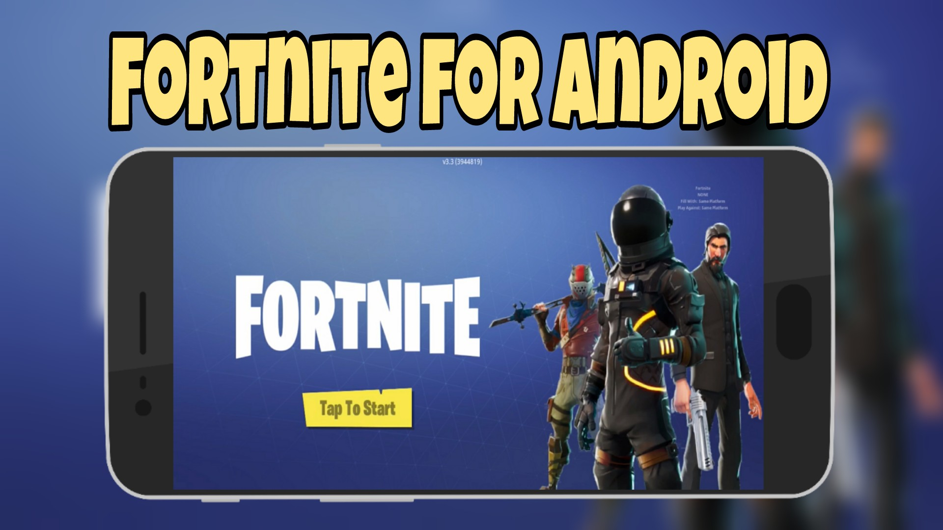 install fortnite on your android mobile - fortnite android on pc
