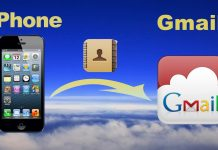 import iPhone contacts into Gmail