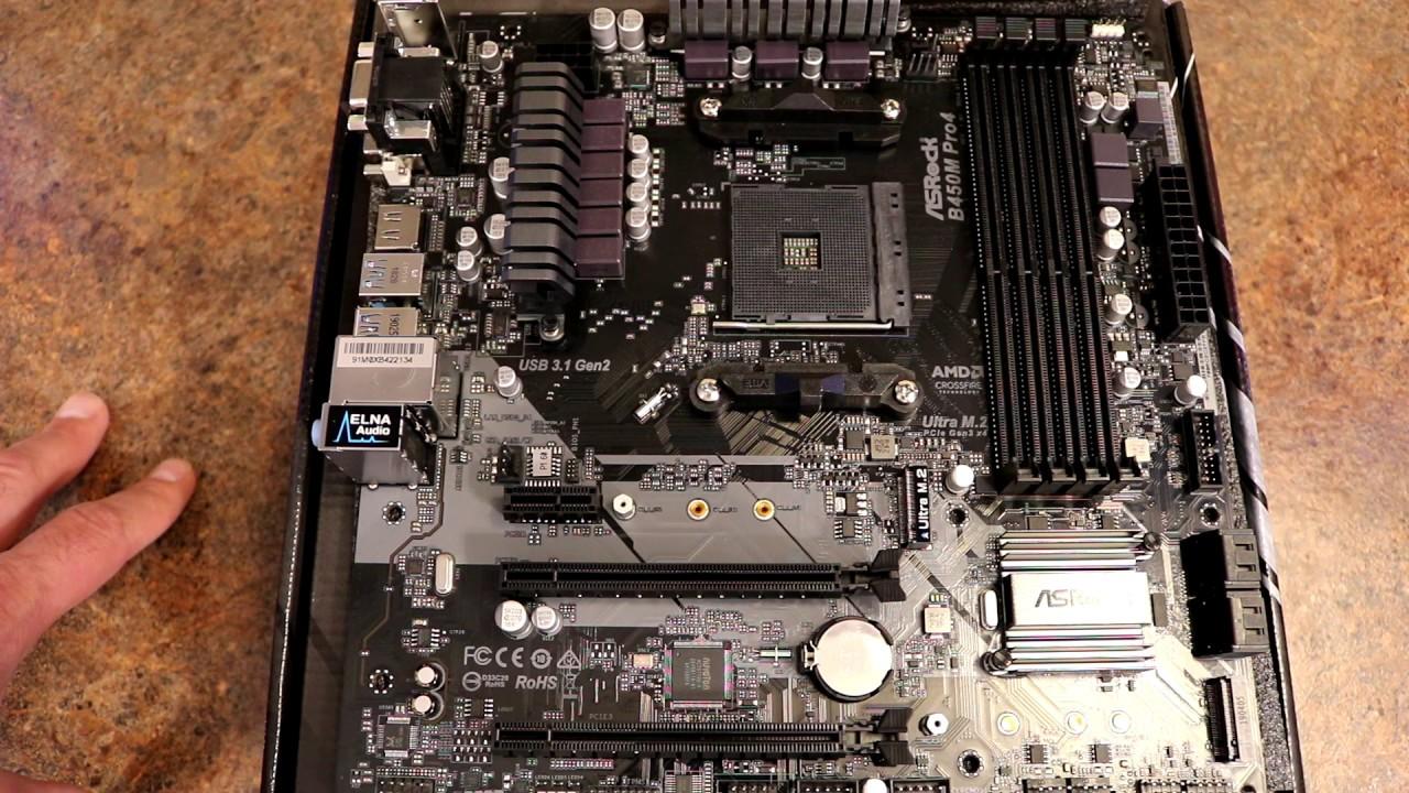 ASRock B450M Pro4 AM4 AMD Motherboard