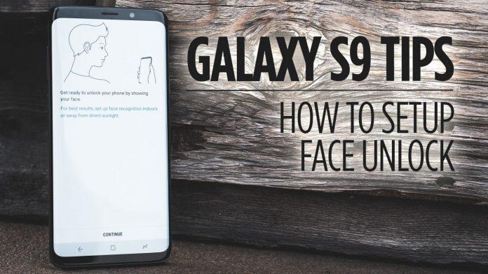 Galaxy S9 face unlocks
