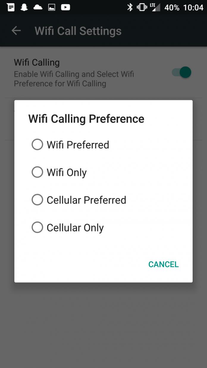 OnePlus 6 WiFi calling
