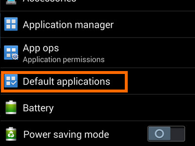 how to remove default apps from Android