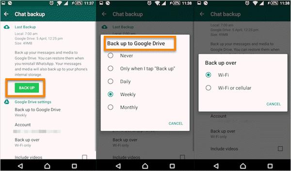 how to read WhatsApp backup on Google Drive