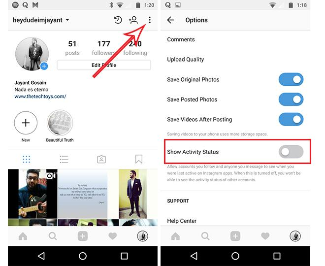 How to Hide Instagram Activity from Followers