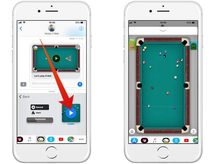 How to Play Pool in iMessages