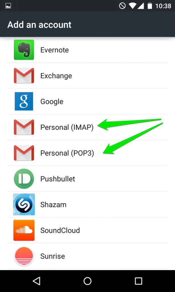How to setup Email on Android phone