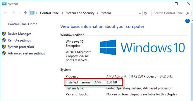 how to check RAM usage on Windows 10