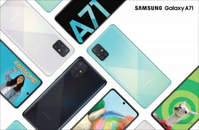 Samsung Galaxy A71 with SD730 SoC 8GB RAM 4500mAh battery launched in India