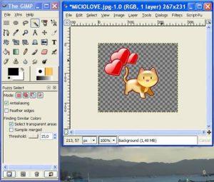 How to make image background transparent using GIMP