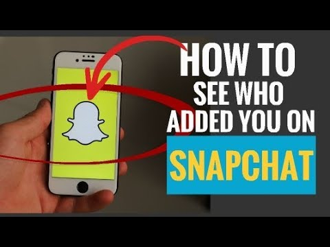 who added you on Snapchat