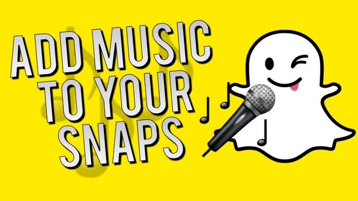 add music to the Snapchat stories