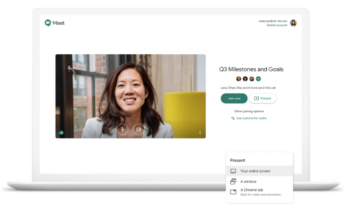 Steps to add attachments to Google Meet