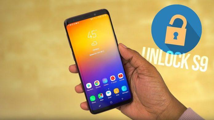 unlock the Samsung S9 phone