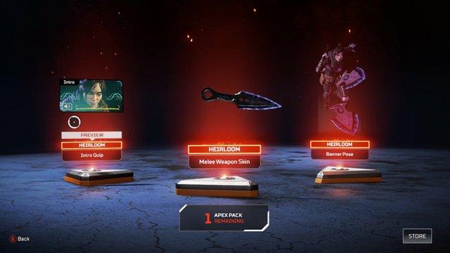 Apex legend Wraith knife