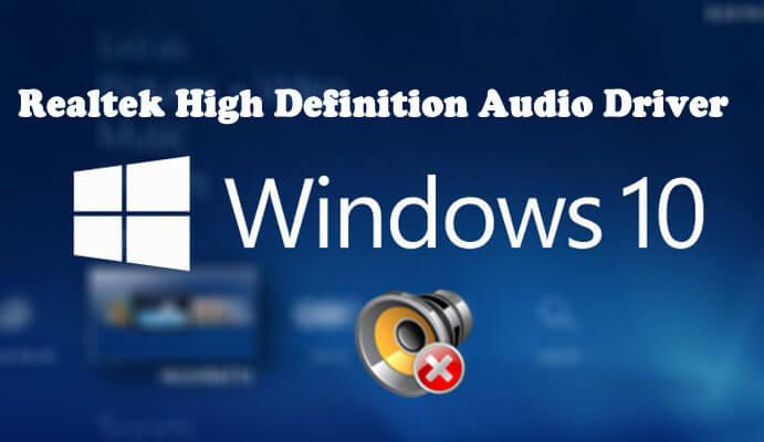 Realtek audio driver problem