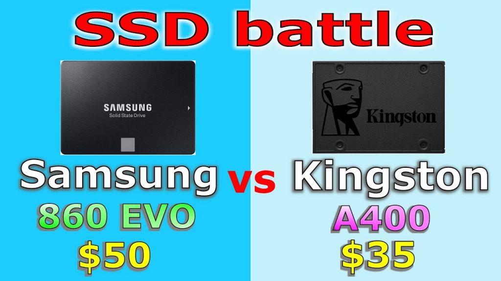 Kingston A400 and Samsung EVO