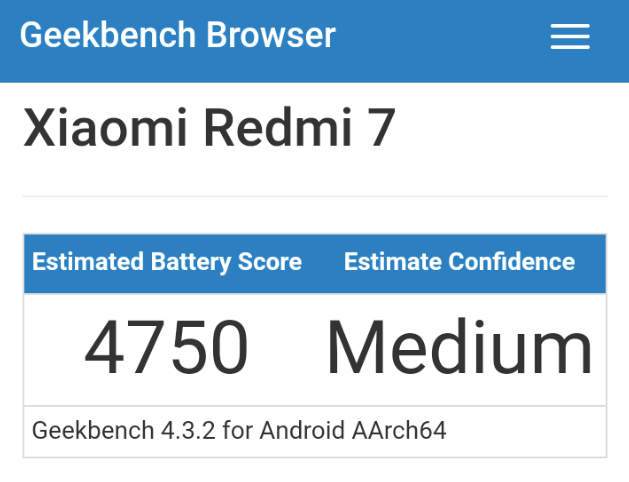 Redmi 7 Benchmark