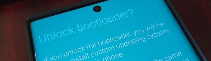 Galaxy S20 Bootloader Unlock Screen
