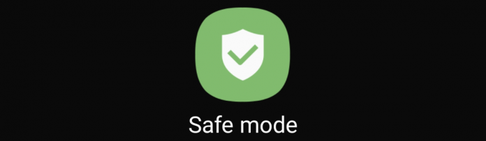 photo showing the galaxy s20 safe mode button