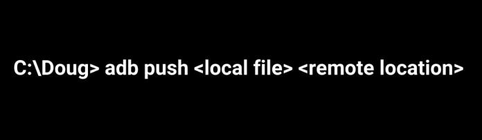 ADB Push to Copy Files Folder