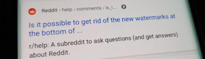 how to remove the reddit watermark