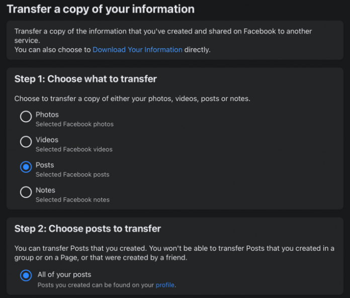 How to Export Facebook Notes and Text-Based Posts