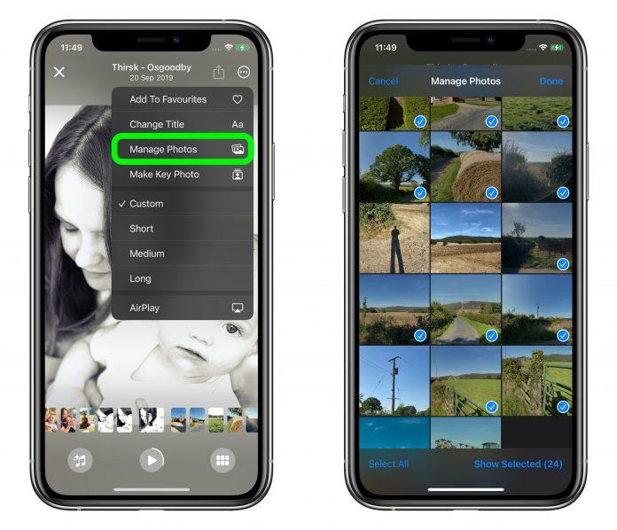 Photos memory in iOS 15