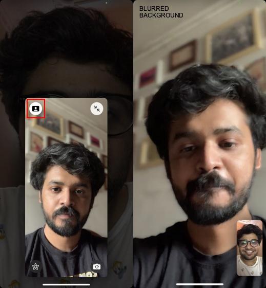 Portrait Mode feature on FaceTime
