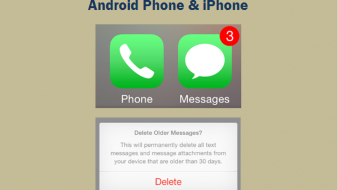 Automatically Delete Old Text Messages